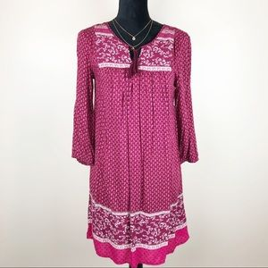 Old Navy Pink Long Sleeve Tunic Dress Size Small